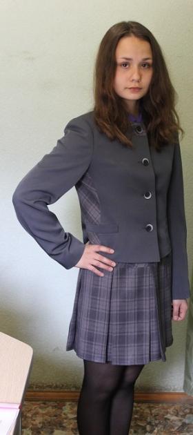 костюм серый + клетка